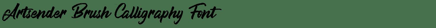 Artsender Brush Calligraphy Font
