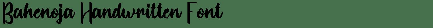 Bahenoja Handwritten Font