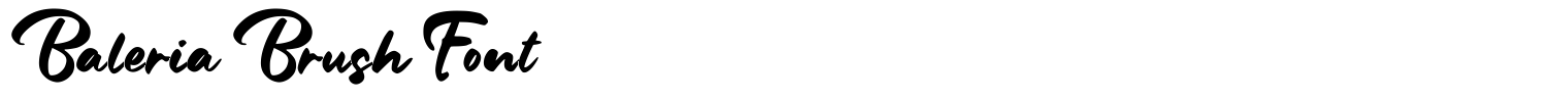 Baleria Brush Font