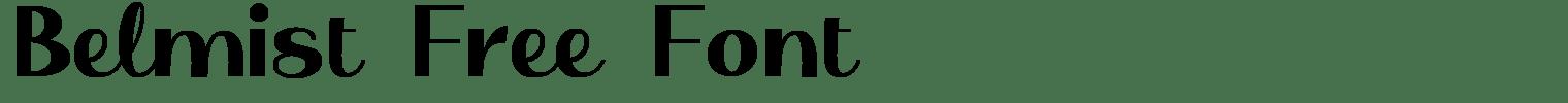 Belmist Free Font