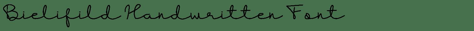 Bielifild Handwritten Font