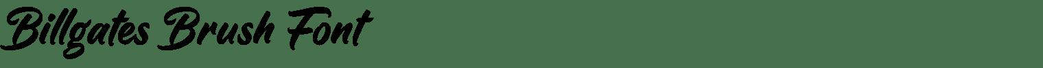 Billgates Brush Font