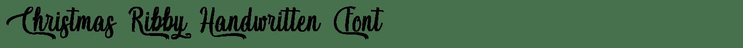 Christmas Ribby Handwritten Font