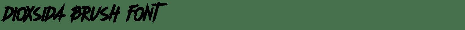 Dioxsida Brush Font