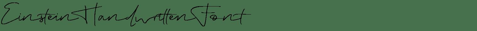 Einstein Handwritten Font