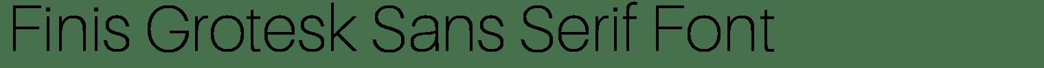 Finis Grotesk Sans Serif Font