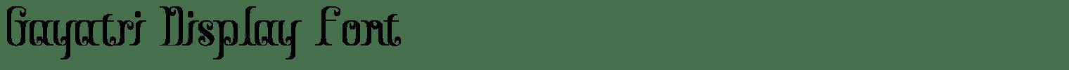 Gayatri Display Font