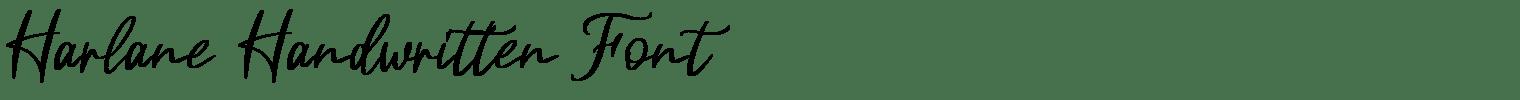 Harlane Handwritten Font