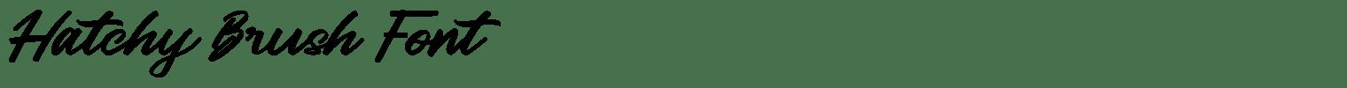 Hatchy Brush Font