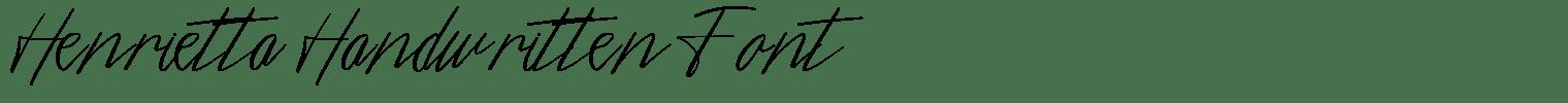 Henrietta Handwritten Font