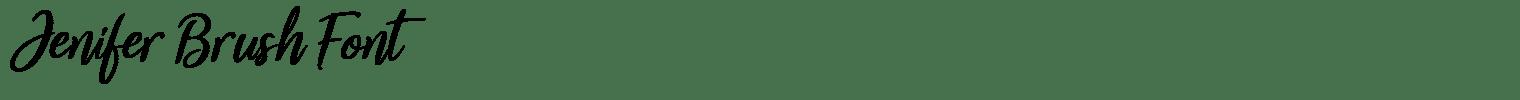 Jenifer Brush Font