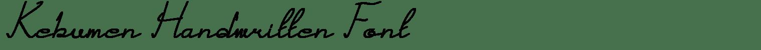 Kebumen Handwritten Font