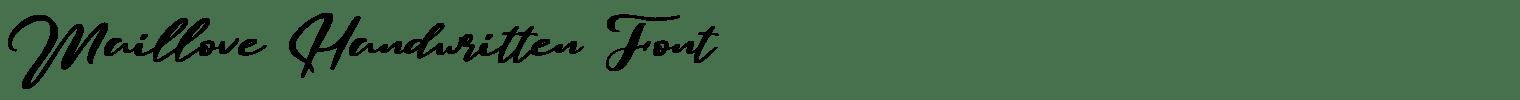Maillove Handwritten Font