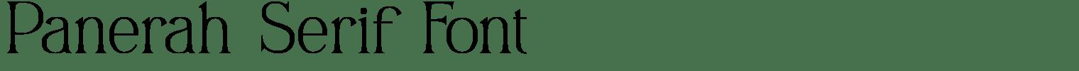 Panerah Serif Font