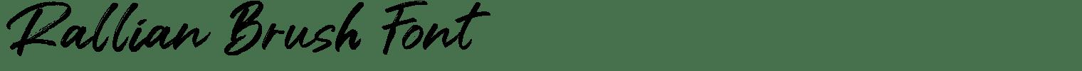 Rallian Brush Font