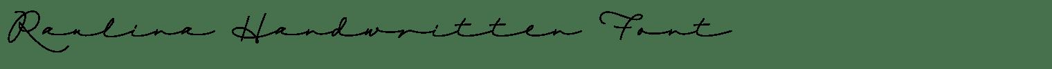 Raulina Handwritten Font