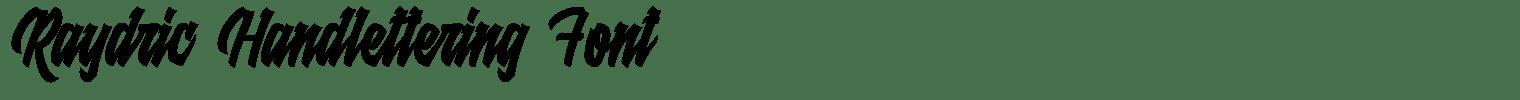 Raydric Handlettering Font
