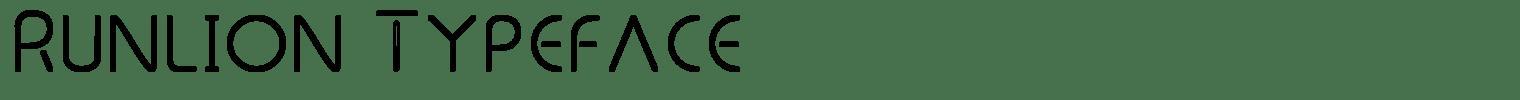 Runlion Typeface