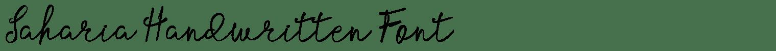 Saharia Handwritten Font