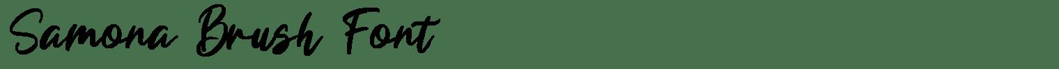 Samona Brush Font