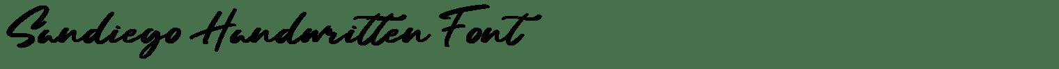 Sandiego Handwritten Font