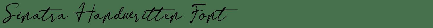 Sinatra Handwritten Font
