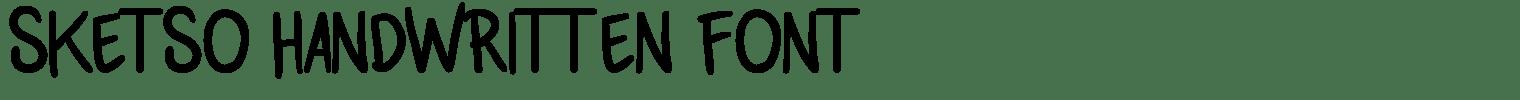 Sketso Handwritten Font