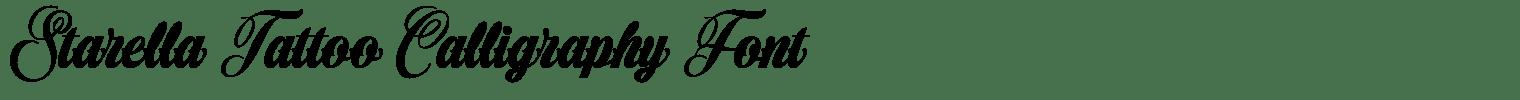 Starella Tattoo Calligraphy Font