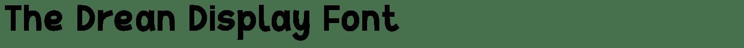 The Drean Display Font