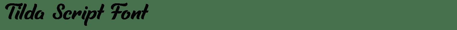 Tilda Script Font