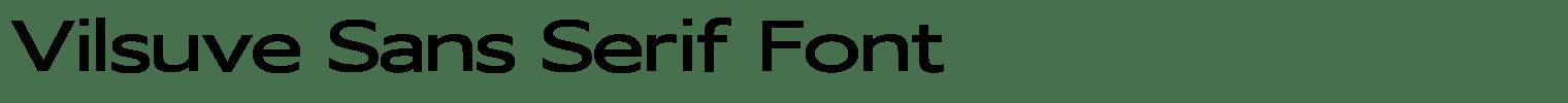Vilsuve Sans Serif Font