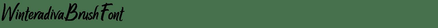 Winteradiva Brush Font