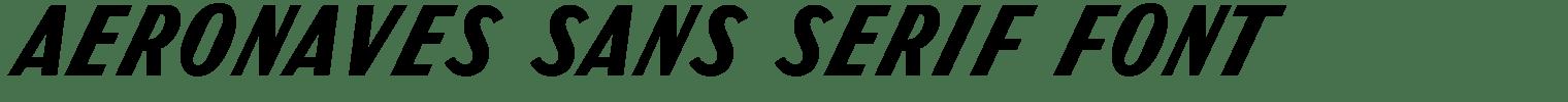 Aeronaves Sans Serif Font