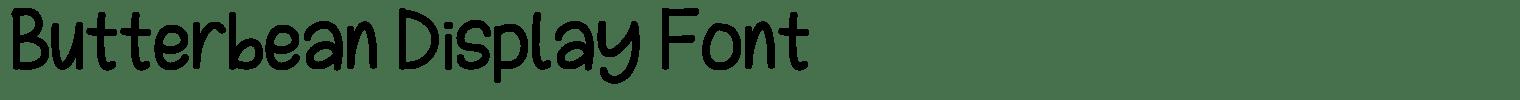 Butterbean Display Font