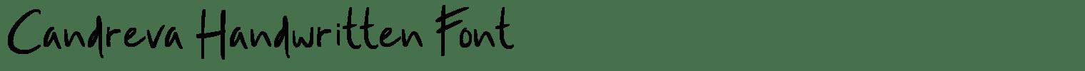 Candreva Handwritten Font