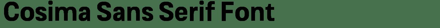 Cosima Sans Serif Font