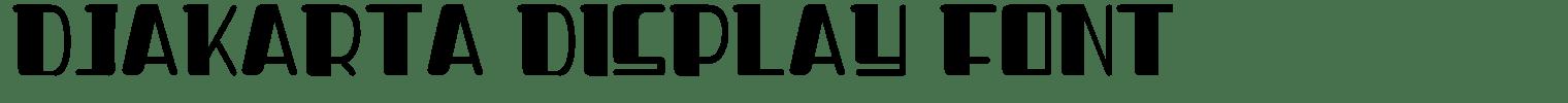 Djakarta Display Font
