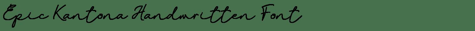 Epic Kantona Handwritten Font