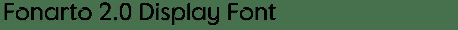 Fonarto 2.0 Display Font