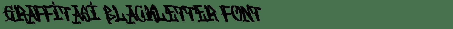Graffitasi Blackletter Font