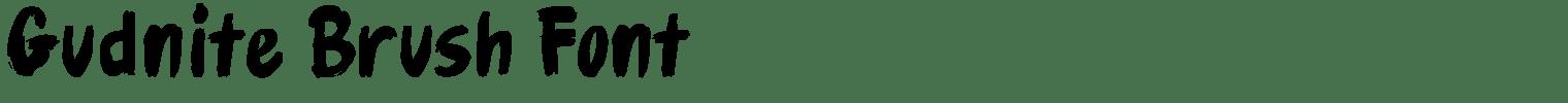 Gudnite Brush Font