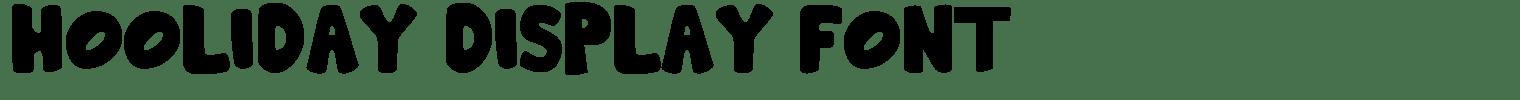 Hooliday Display Font