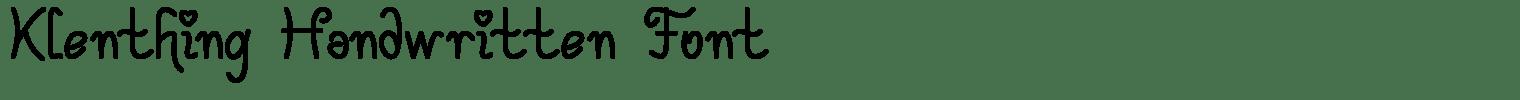 Klenthing Handwritten Font