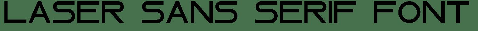 Laser Sans Serif Font