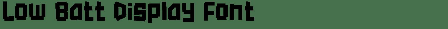 Low Batt Display Font