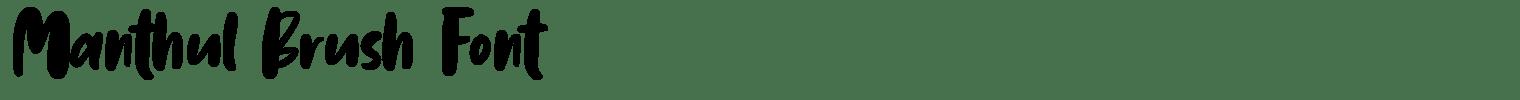 Manthul Brush Font