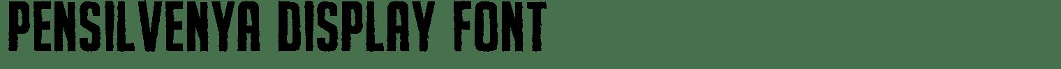 Pensilvenya Display Font