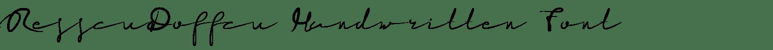 ResscuDoffcu Handwritten Font