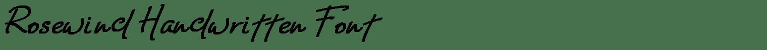 Rosewind Handwritten Font