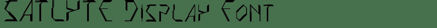 SATLYTE Display Font